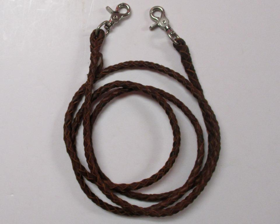 1320 Round Braided Leather Roping Rein Loomis Tack Supply